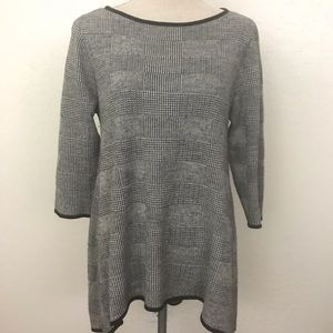 classiques entier Wool Cashmere Checkered Sweater